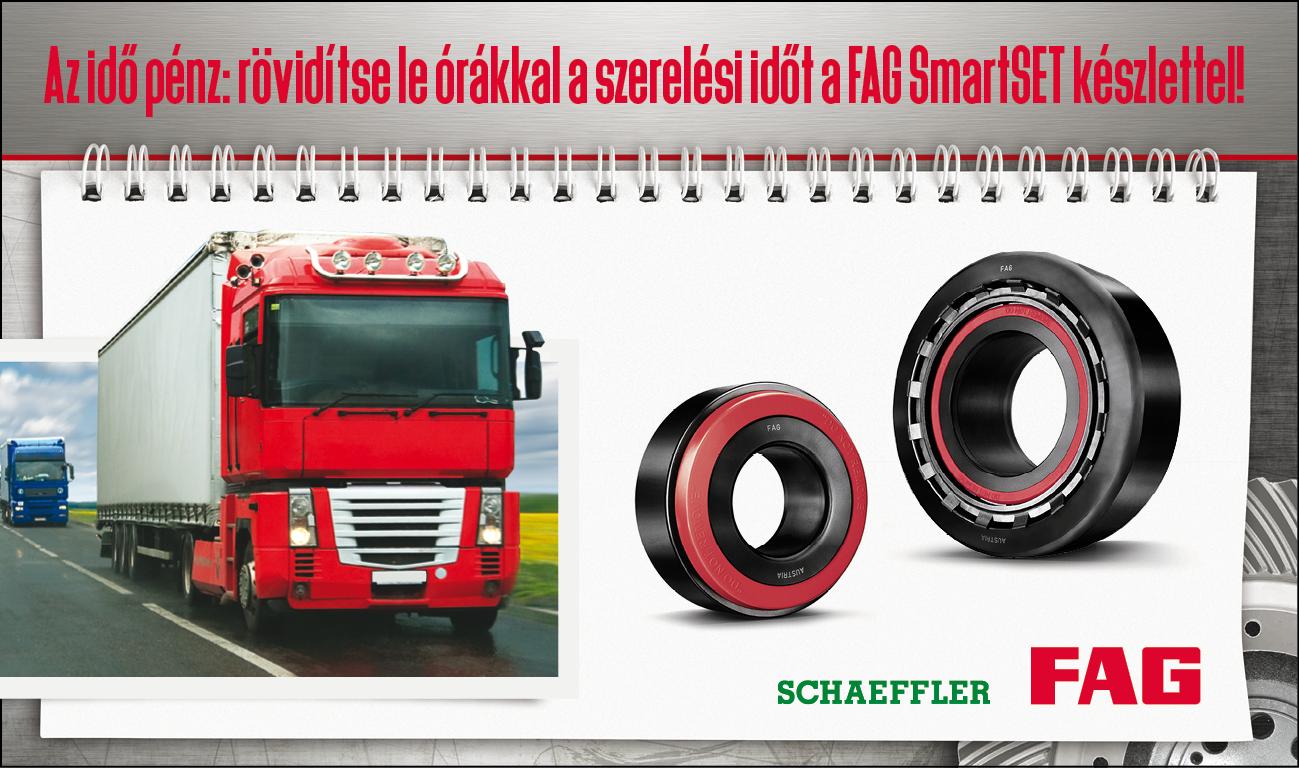 cc4a0d343f A FAG a SmartSET személyében egy olyan, beszerelésre kész kerékagycsapágyat  dobott piacra, amely minden szabványos, kúpgörgős tehergépjárműbe  beépíthető.